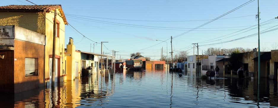 Inundacion en Arrecifes, provincia de Buenos Aires.
